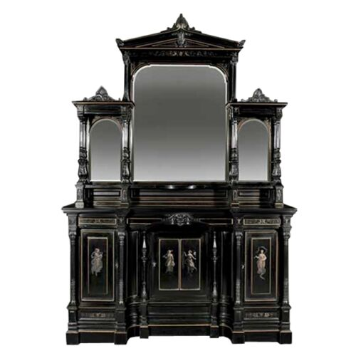 Pullman Family Aesthetic Movement Parlor Cabinet by Pottier & Stymus C1870 7304