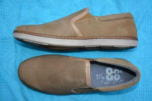 COLORADO Taupe Brown Leather CASUAL SHOES. Mens Size 9. New RRP $109.95.SLIP ON