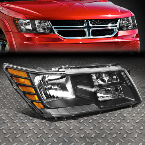 FOR 09-20 DODGE JOURNEY RH RIGHT BLACK HOUSING OE STYLE HEADLIGHT LAMP CH2503222 <br/> Factory Style; Direct Bolt-On Replacement!