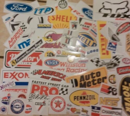 Racing Sticker Set of 26 Grab Bag For Tool Box Locker Garage Mancave Auto Decals