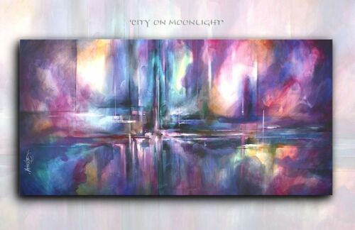 Modern Art Abstract CONTEMPORARY Mix.Lang Painting Mounted Giclee Canvas Print