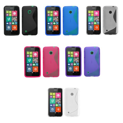 Case For Nokia Lumia 530 S-Line Silicone Gel Skin Tough Shockproof Phone Cover