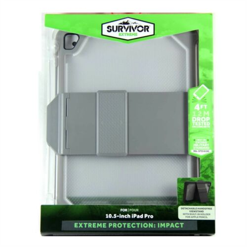 """GRIFFIN CASE FOR IPAD PRO 10.5"""" 2017 SURVIVOR EXTREME IMPACT GREY CLEAR GB43540"""