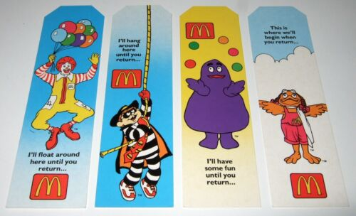 McDonald's Bookmarks - promotional items - 1990s