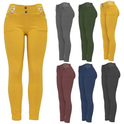 NEW LADIES FUR LINED JEGGINGS THICK WARM WINTER STRETCH TROUSERS