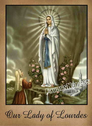 Our Lady of Lourdes MAGNET 4 x 3 inches Virgin Mary Bernadette Catholic Gift