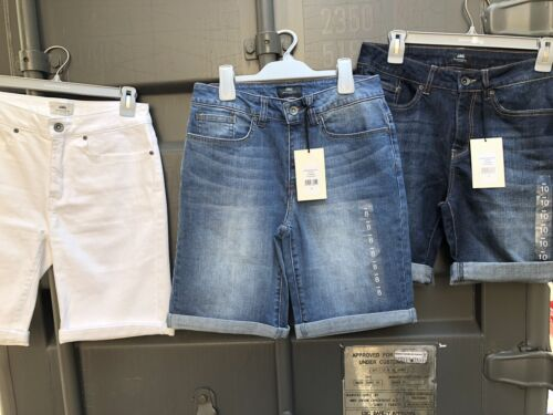 Ladies JAG Bermuda Roll Up Or Down Denim Shorts With Stretch