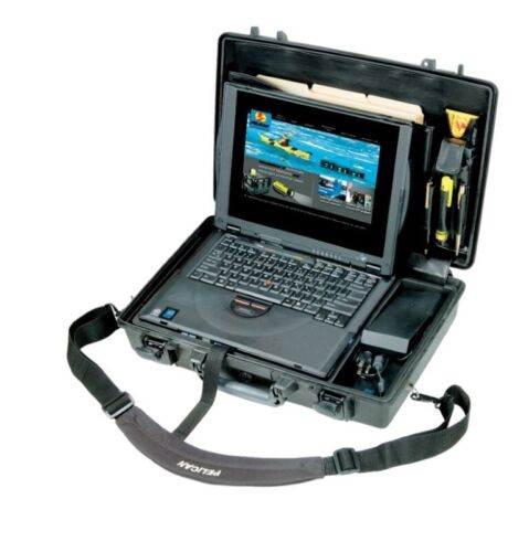 Pelican 1490CC1 Notebook Protector Case Military Grade Tough Rugged with Lid & T