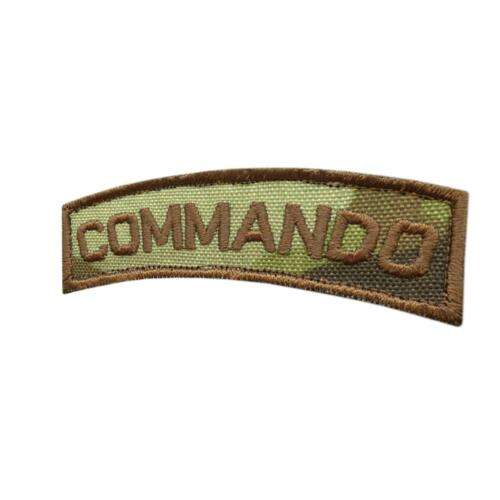 Commando shoulder tab multicam tactical army military emblema fastener patchParches - 4725