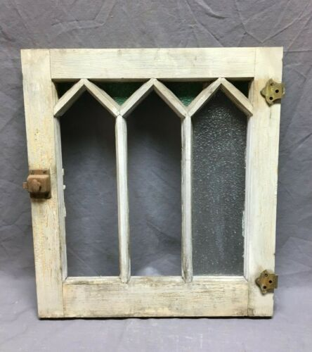 Antique 18x20 Window Mission Sash Casement Cabinet Shabby Cottage VTG 155-19B