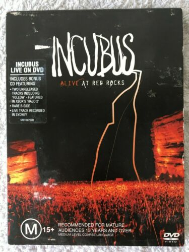 INCUBUS ALIVE AT RED ROCKS DVD 2 DISCS DVD + CD, FREE POST