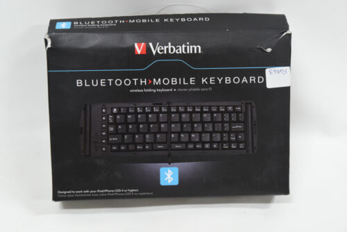 Verbatim 97537 Bluetooth Wireless Folding Mobile Keyboard