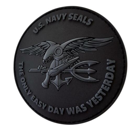 the only easy day US navy seals PVC 3D all black écusson hook patch