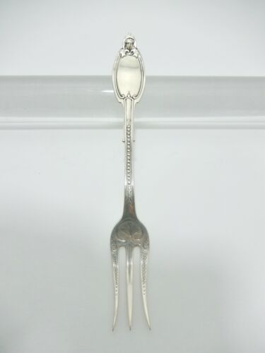 "Kenilworth by Albert Coles Coin Silver Pickle Fork. 3 Tines.  5 9/16""   S-198"