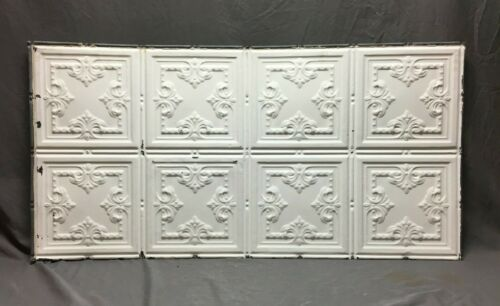 300 Sq Feet Salvaged Antique Tin Metal Ceiling Complete Decorative Vtg 100-20B