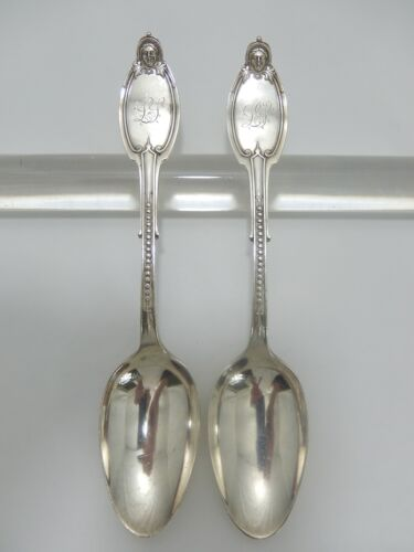 "Set 2 Kenilworth by Albert Coles Sterling Silver Tablespoons.  8 3/16"".  S-186"