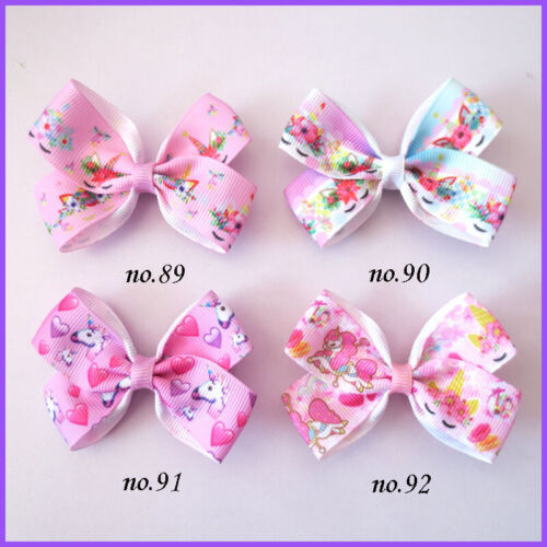 """2000 BLESSING Good Girl 2.75"""" Angel Hair Bow Clip Unicorn Accessories Wholesale"""