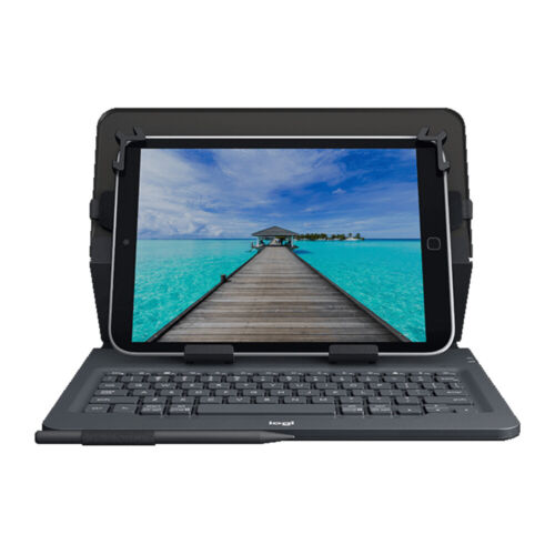 "Folio Case with Bluetooth Keyboard for Tablet 9-10"" Universal Logitech 920-00833"