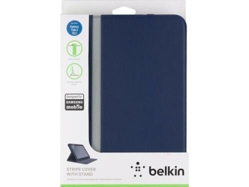 🇦🇺Belkin Stripe Cover with Stand Samsung Galaxy Tablet Tab 3 10.1 Navy Blue⚡