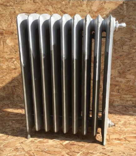 Antique Hot Water Radiator 9 Sections 38x27x12 Cast Iron Old Heating Vtg 108-20E