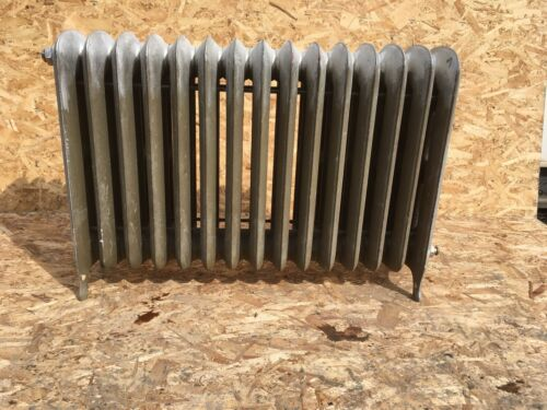 Antique Hot Water Radiator 15 Sections 26x37x9 Cast Iron Old Heating Vtg 116-20E