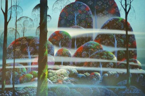 """Eyvind Earle """"BEYOND PARADISE"""" Hand signed numbered Serigraph 1989"""