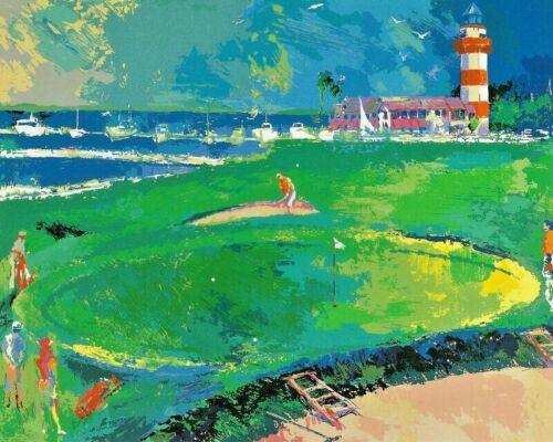 "LEROY NEIMAN BOOK PRINT ""18TH HARBOUR TOWN"" GOLF COURSE HILTON HEAD S. CAROLINA"