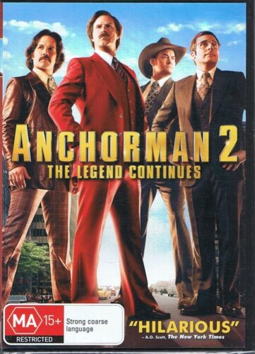 ANCHORMAN 2 - The Legend Continues Will Ferrell DVD NEW & SEALED Free Post