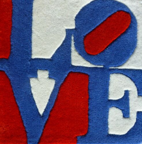 """ROBERT INDIANA """"Czech""""  LOVE Multiple wool Numbered Edition signed COA"""