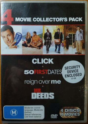 Click + 50 First Dates + Reign Over Me + Mr Deeds DVD (4 Disc) New/Sealed