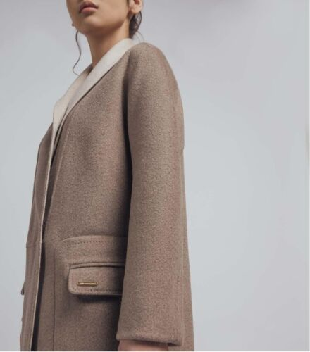 Woman's luxury 100% pure cashmere coat reversible warm long winter