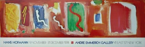 Vintage 1974 HANS HOFMANN Andre Emmerich Gallery NY Exhibition Poster RARE!