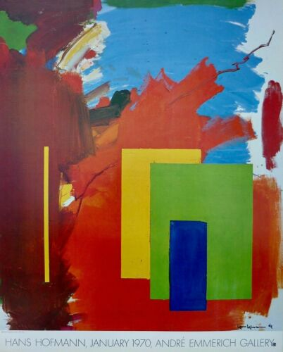 Vintage 1970 HANS HOFMANN Andre Emmerich Gallery NY Exhibition Poster RARE!