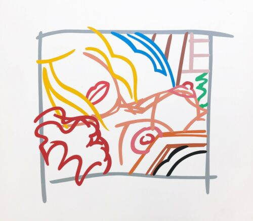 """TOM WESSELMANN """"BEDROOM BLONDE DOODLE WITH PHOTO"""" 1988   HAND SIGNED SCREENPRINT"""