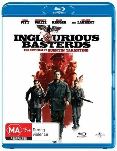 Inglourious Basterds, a film by Quentin Tarantino NEW BLU-RAY DISC