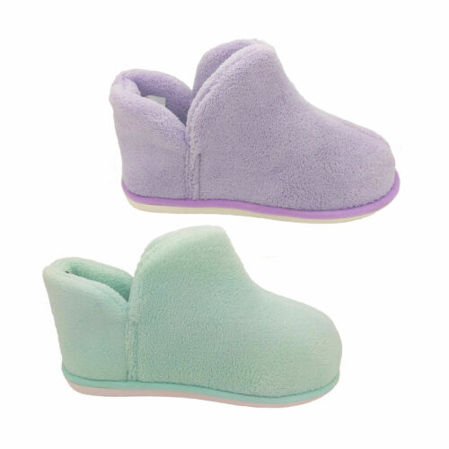 Ladies Slippers Panda Essie Soft Ankle Bootie Slipper Pull On Warm Size S-L NEW