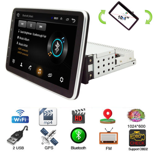 """9"""" Rotatable Touch Screen Android 9.0 Quad Core Car Stereo Radio Video GPS 1+16G"""