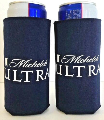 Michelob Ultra Slim Can Koozie 12 oz Cooler Holder - Two (2) - New & Free Ship