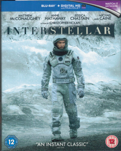 Interstellar Blu-Ray Movie - Matthew McConaughey - FREE POSTAGE!
