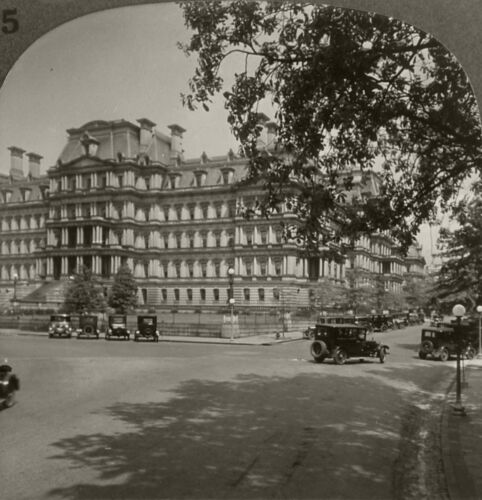 Keystone Stereoview State, War and Navy Bldg., DC 1920's Scenic America Set # 25