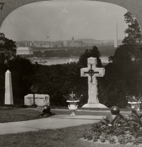 Keystone Stereoview DC From Arlington Cemetery From 1930s Scenic America Set #37