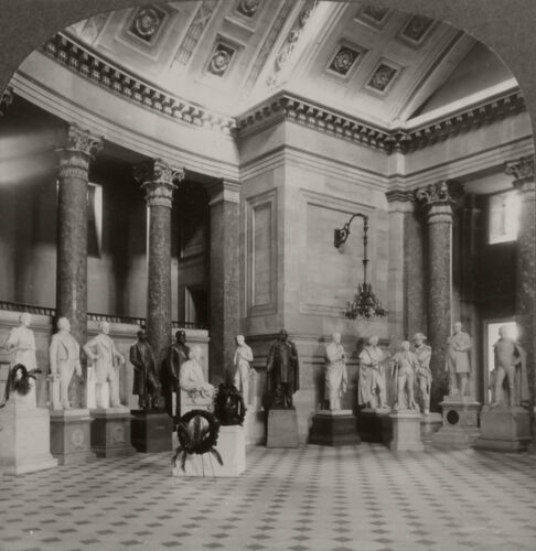 Keystone Stereoview Statuary Hall, Capitol, DC From 1930's Scenic America Set #8