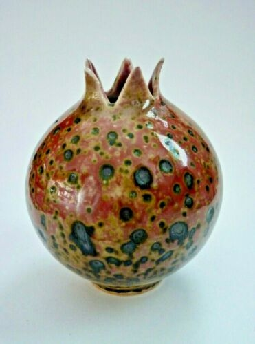 Chinese KANGXI Mark Peachbloom Glazed Porcelain Pomegranate Form Vase
