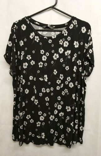 Blooming Marvellous Top,Size XL,Colour Black/White