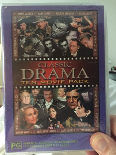 classic drama 10 movie multiple disks sealed some great movies here check photo