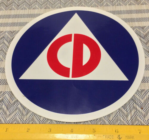 CIVIL DEFENSE STICKER S DECAL COLD WAR 2 TWO  6 INCH Decal Stickers