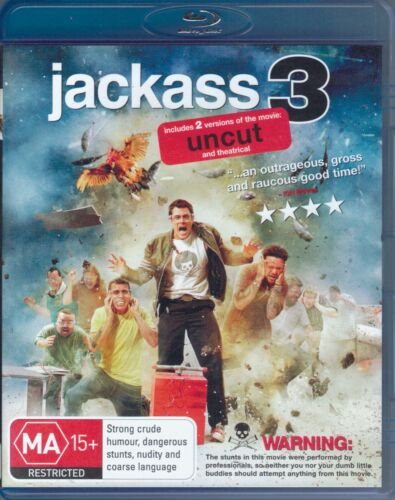 Jackass 3 Blu-Ray Movie - Johnny Knoxville - FREE POST!