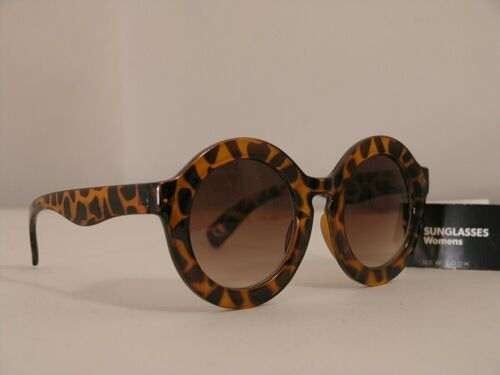 """NEW LOOK woman sunglasses Round Retro' Spotted Turtle 3317025/27/1454 """"NEW"""" Tag"""