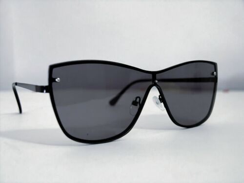 """PEACOCKS woman sunglasses Androgynous Retro' 80 Style """"Mask"""" Fumè color metal NW"""
