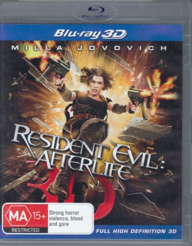 Resident Evil Afterlife 3D Blu-Ray Movie FREE POSTAGE!